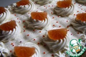 """Торт """"Апельсины в облаках"""" - кулинарный рецепт"""