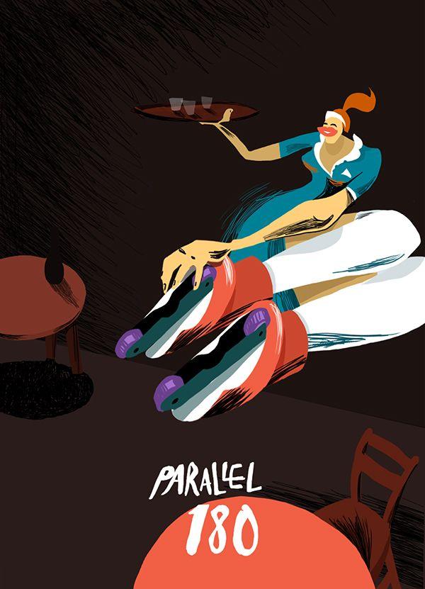 Rollerblading on Illustration Served