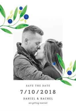 Save the date printable announcement template. Customize, add text and photos. Print, download, send online for free!  #announcements #printable #diy #template #savethedate #wedding #weddingsavethedate