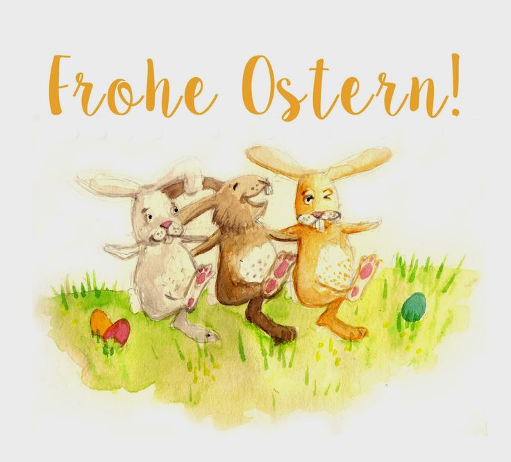 Frohe #Ostern / Cancan der #Osterhasen (#Easter, #Easter-Bunny, #Easterbunny)