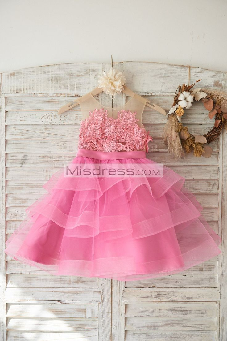 Cupcake Fuchsia Lace Tulle Wedding Flower Girl Dress with Horsehair Tulle Hem  https://www.misdress.com/collections/flower-girl-dresses/products/cupcake-fuchsia-lace-tulle-wedding-flower-girl-dress-with-horsehair-tulle-hem?utm_content=buffer3dde7&utm_medium=social&utm_source=pinterest.com&utm_campaign=buffer  #cupcakeflowergirl #laceflowergirl #tulleflowergirl #blushpinkflowergirl #flowergirl #flowergirldress #romanticwedding #wedding #weddingideas #weddingoptions #weddinginspirations…