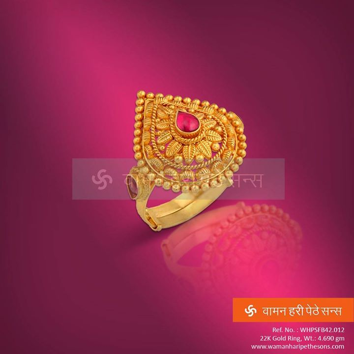 #Fabulous #traditional #gorgeous #attractive #gold #ring from our new #designer collection.
