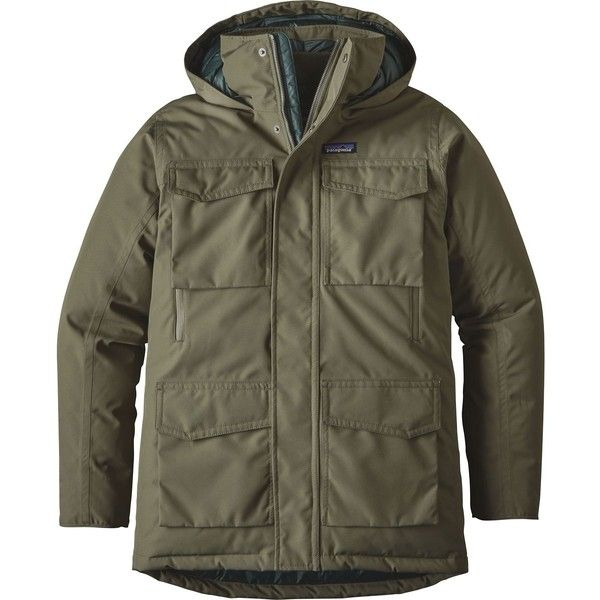 Patagonia Thunder Cloud Down Parka ($399) ❤ liked on Polyvore featuring men's fashion, men's clothing, men's outerwear, men's coats, mens parka, mens parka coats, mens coats and mens down coats