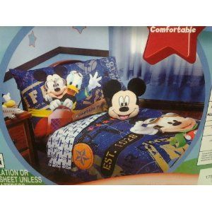 http://babytoddlerbedding.net/mickey-mouse-toddler-bedding-mickey-mouse-sheets-and-comforters.html  Mickey Mouse Toddler Bedding Sets.