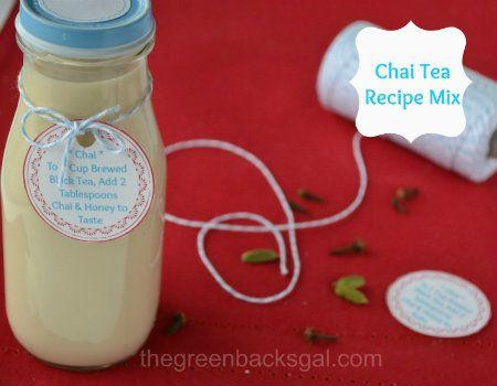 Chai Tea Recipe: Mix for Hot Masala Chai Tea includes FREE printable labels!