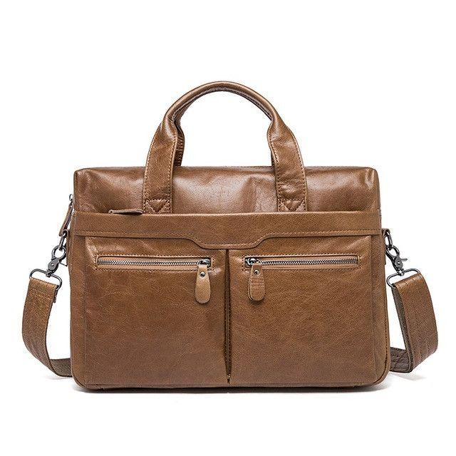 cac8682f47 WESTAL Genuine Leather Bag Casual Handbags Cowhide Men Crossbody Bags Men s  Travel Bags Tote Laptop Briefcases Men Bag 9005