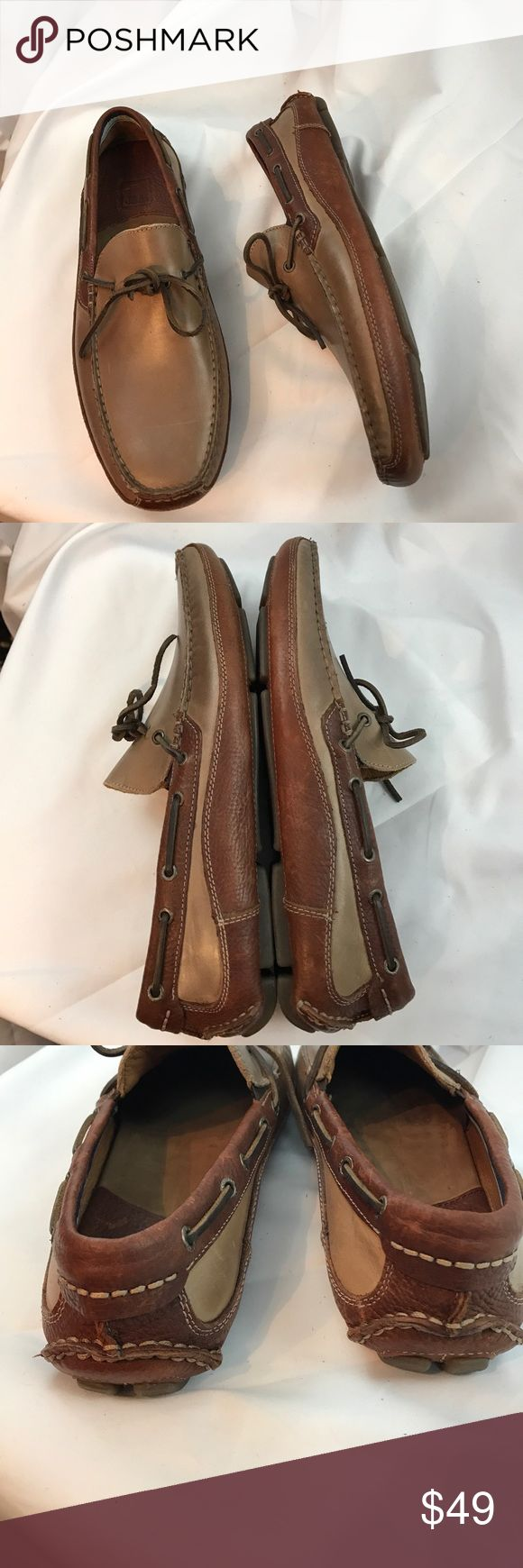 Johnston & Murphy sz9.5 leather boat shoe loafers Excellent used condition Johnston & Murphy sz9.5 leather boat shoe loafers...some scuffs on leather but overall in great shape...worn only twice... Johnston & Murphy Shoes Loafers & Slip-Ons