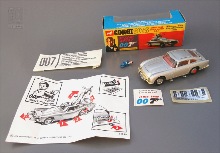 CORGI toy replica from GOLDFINGER.