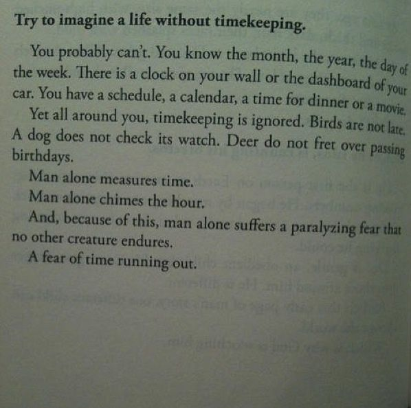 Imagine a life without time...