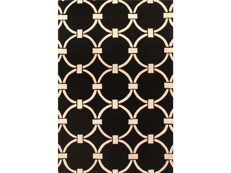 England Floor Coverings Metro CC-3005 Black 5 x 8 Rectangle