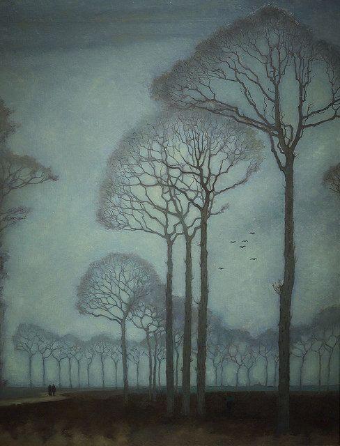 """Row of Trees"", 1915, Jan Mankes, Rijksmusuem, Amsterdam."