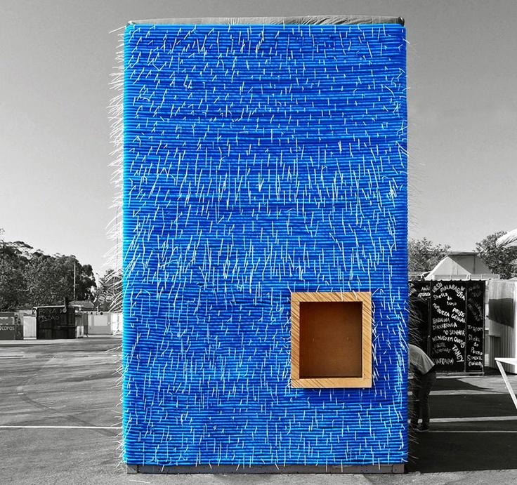 Temporary ArchitectureBluetub House, S'More Bar, S'Mores Bar, Bluetub Bar, Architecture, Plastic Tube, Outdoor Bar, Construction, Dose