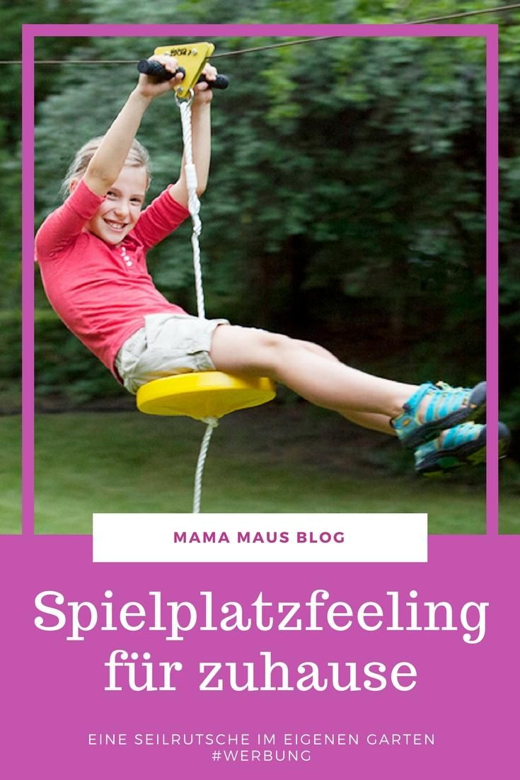 Anzeige Dank Coolstuff Eine Eigene Seilrutsche Für Den Garten Mama Maus Blog Kinder Garten Spielen Coole Geschenke Für Frauen Spielzeug Draußen