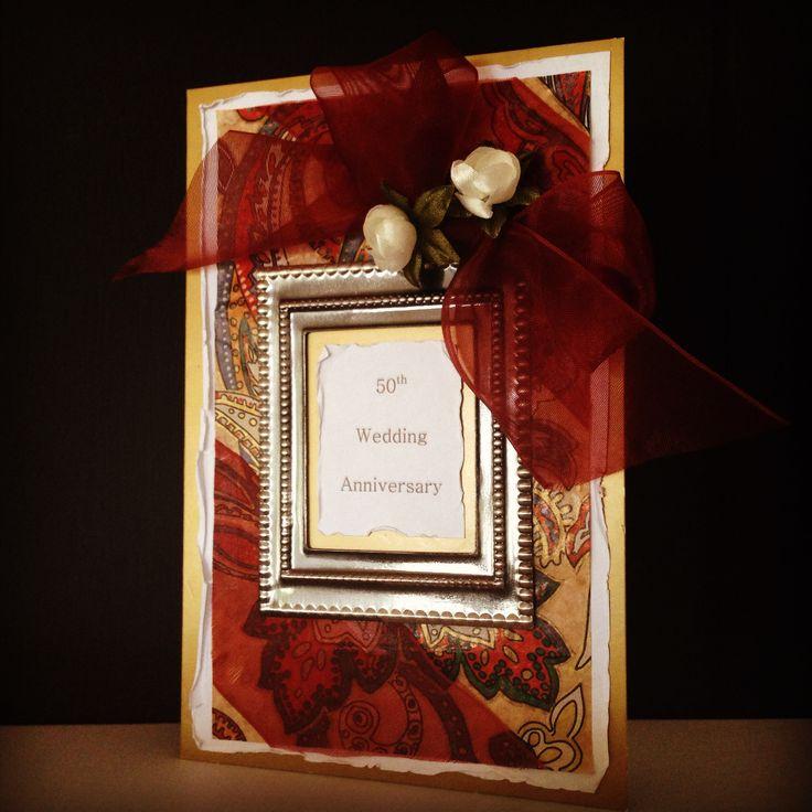 50th Wedding Anniversary scrapbooking card made by Pammypumpkin!