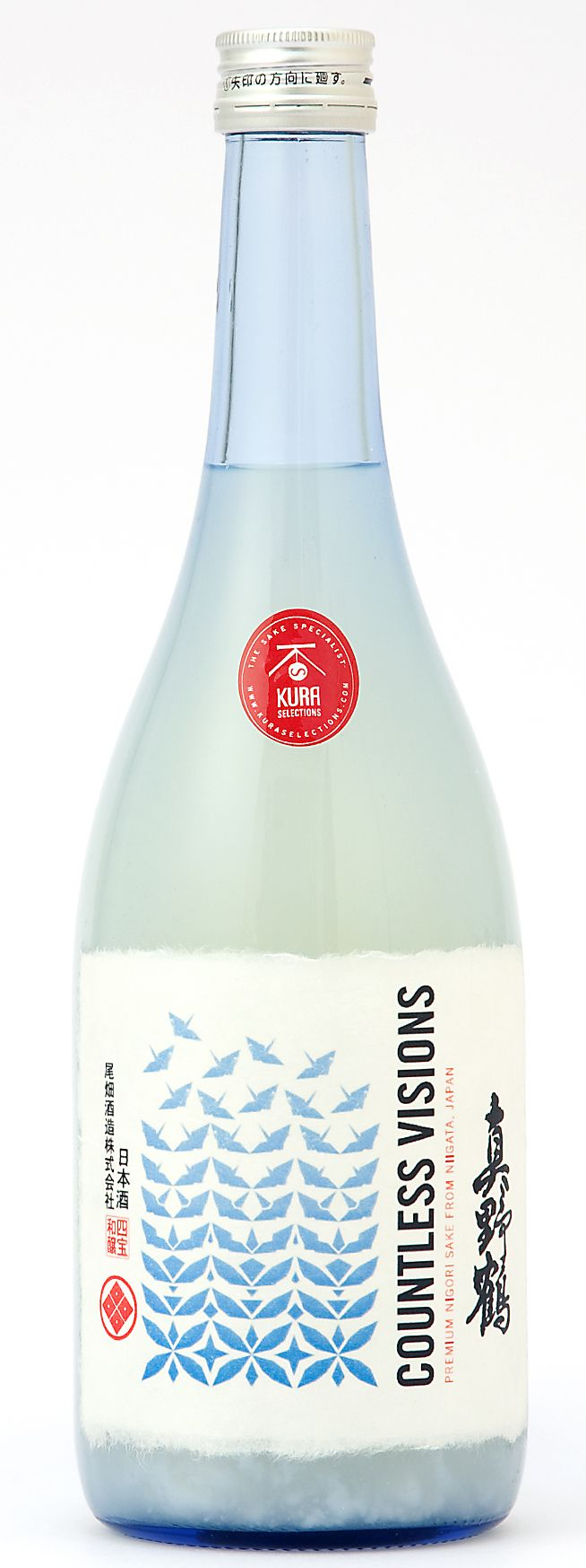 "Manotsuru ""Countless Visions"" sake from Kura Selections. #japanese #package #design"