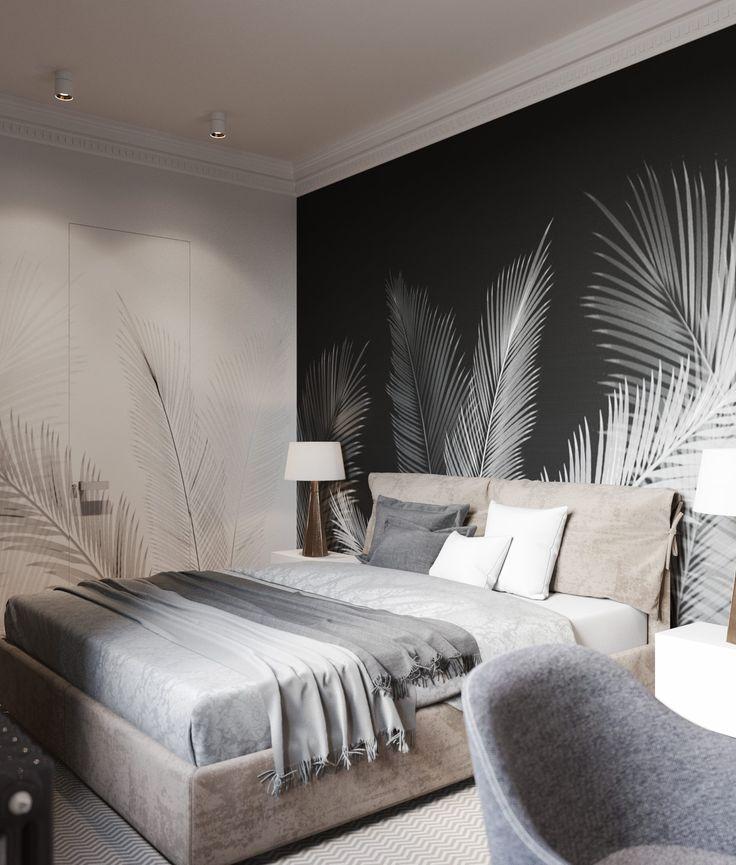 обои с перьями в интерьере спальни внешность зависит того