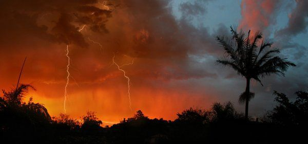 An image by Ben Myburgh captures the forces of nature. For more amazing sunsets visit www.greatestsunsets.com