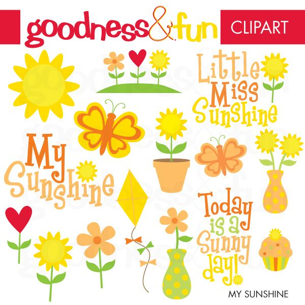 Everyone can use a dose of sunshine from time to time...plenty of sunshine in the My Sunshine set. Great for scrapbooking, stationery, embroidery and so much more!