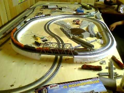 Second main line compleate 4x8 n scale 3 trains running ho trains pinterest layout - Ho scale layouts for small spaces concept ...