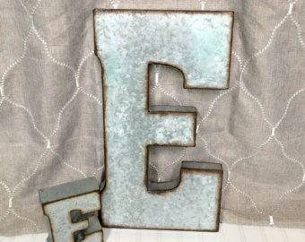 Large Metal Letters/Farmhouse Letters/Galvanized