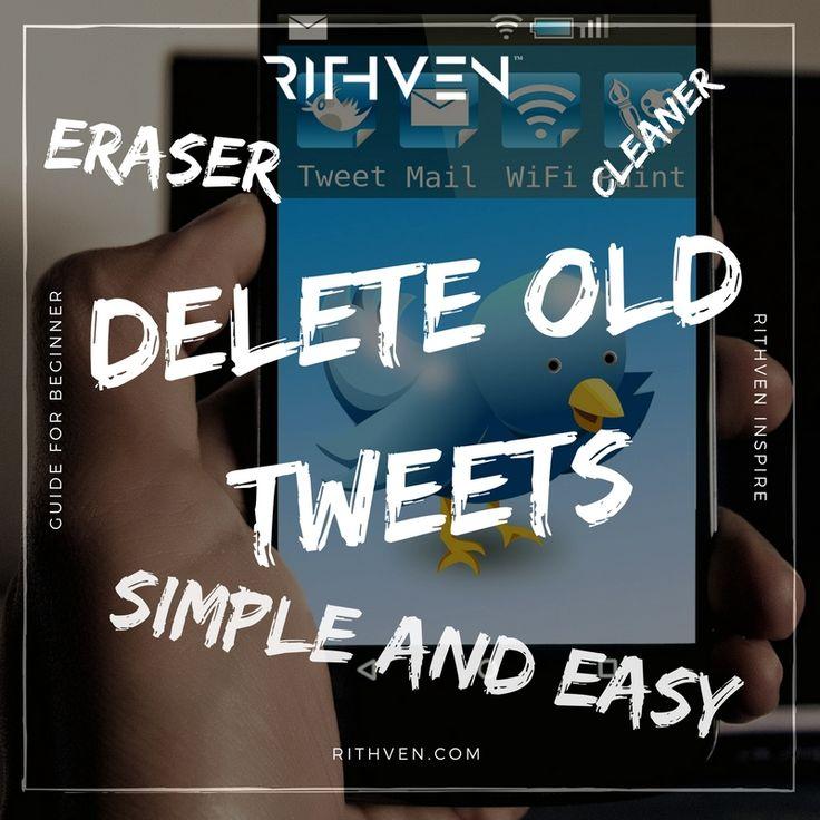 Delete old tweets. Simple and easy tweet cleaner/eraser.