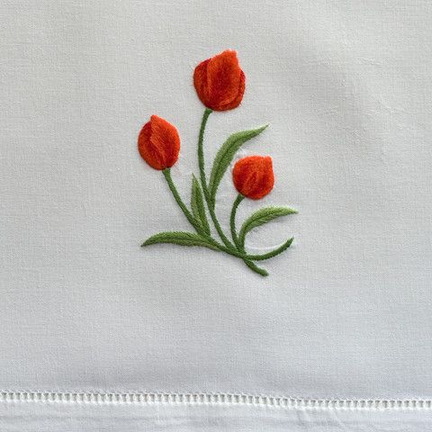 Tulip Red<br>Hand Towel