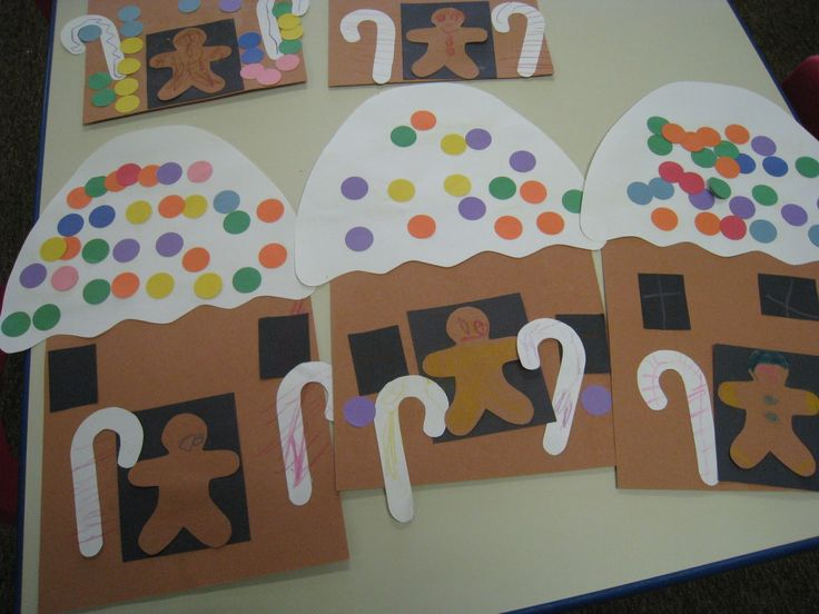 Here are the Gingerbread Houses we made! I found this idea at Gluesticks, Games, and Giggles and made my own patterns for the craft with t...