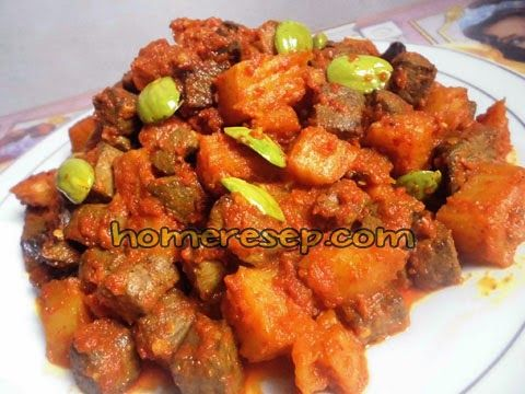Resep Sambal Goreng Kentang Ati Sapi Campur Pete - Resep Masakan Indonesia Homemade™