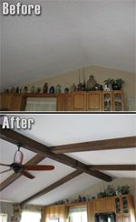 17 Best Ideas About Faux Beams On Pinterest Wood Ceiling