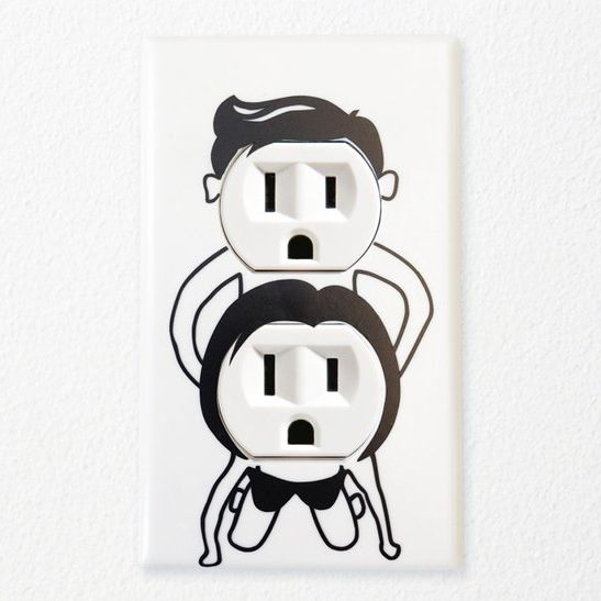 Naughty Outlet Cover #humor sent to me from @Kerri S. S. S. Rundle , if you do this to my outlets you're in big trouble...lol