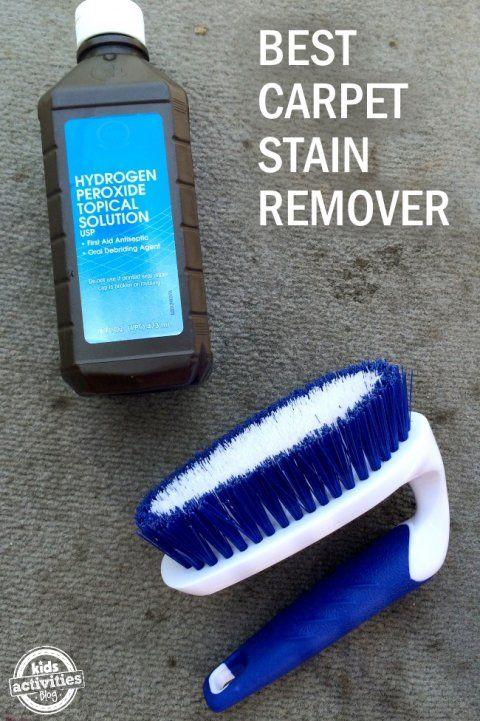 DIY carpet stain remover scrubbing brush