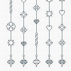 Blackwork Embroidery Pattern Bluework Wind by CowbellCrossStitch