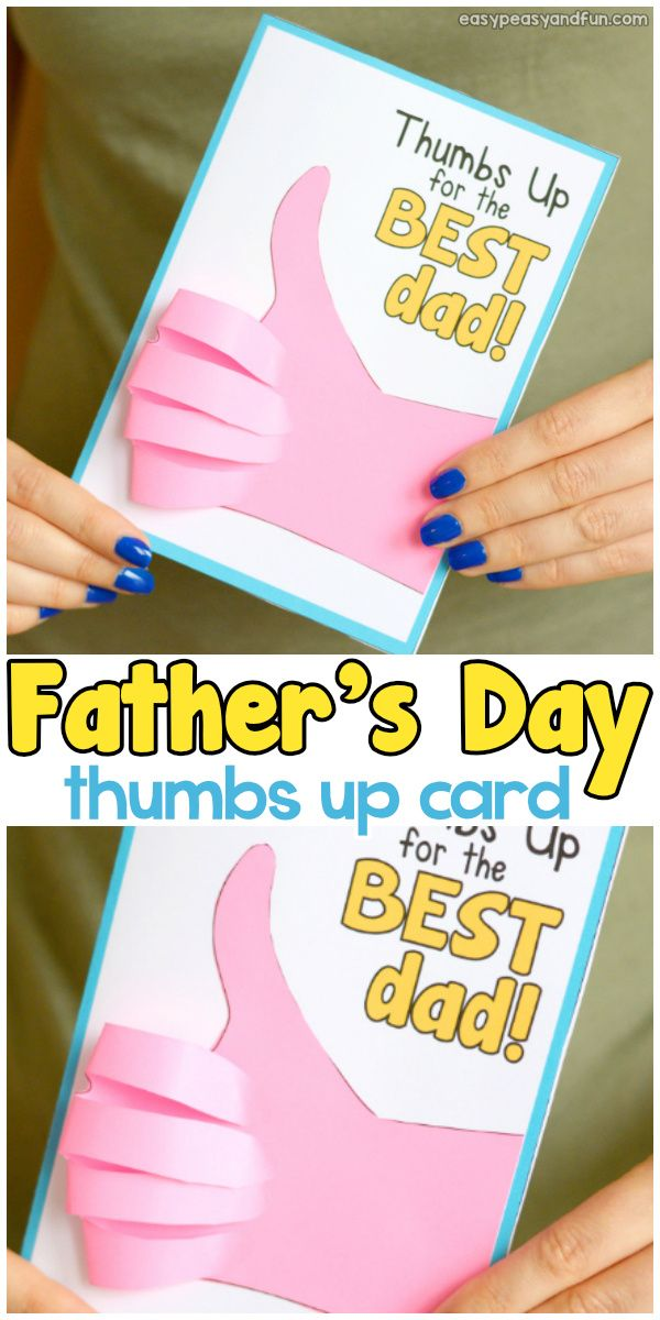 Father S Day Thumbs Up Card Fathers Day Crafts Homemade Fathers
