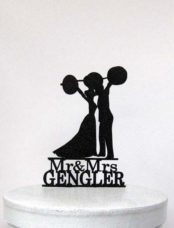 Crossfit Wedding Cake Topper