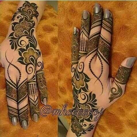 Traditional simple bridal baby mehndi