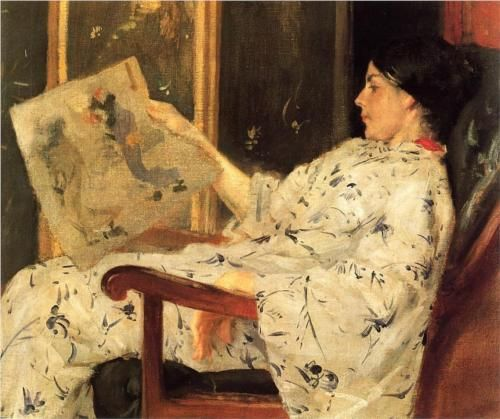 The Japanese Print - William Merritt Chase
