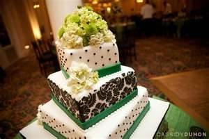 My Wedding cake colors.. My cake was similar to this!