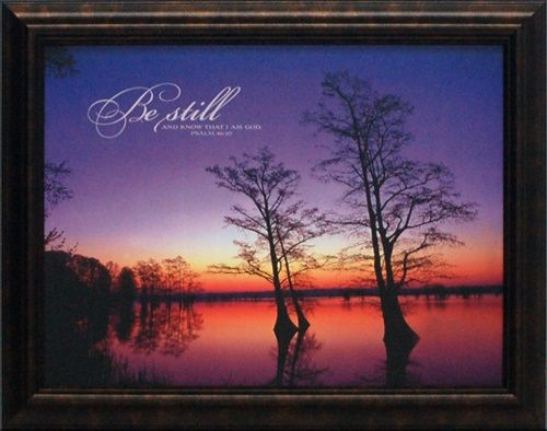 artistic reflections be still wholesale framed inspirational autumn landscape art print - Wholesale Art And Frames