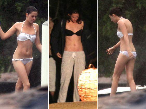 Kristen Stewart filming scenes for Breaking Dawn in 2011 [Photo: Splash News Online]