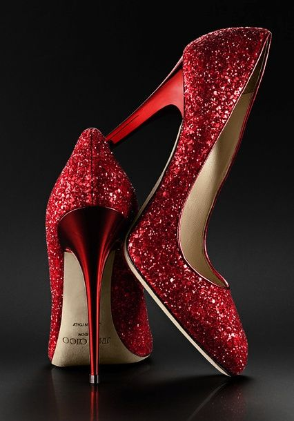 "Red Jimmy Choos...I would click them together and say, ""There is no place like home!"" Hahahahaha #PANDORAvalentinescontest"