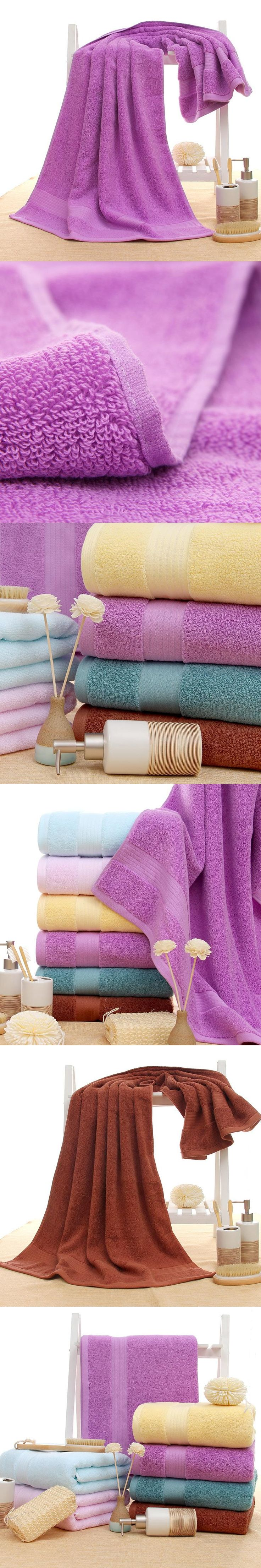 """New 140x70cm (27x55"""") 100% cotton Bath Towel Solid color Soft Towel Home Hotel Towels Quick Absorbency High Quality 500g"""