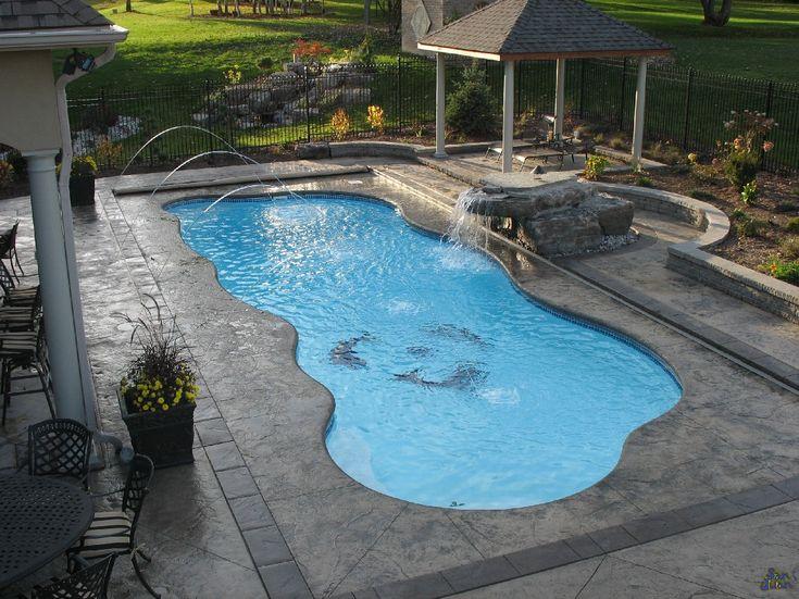 taj mahal san juan fiberglass in ground pool at backyard masters
