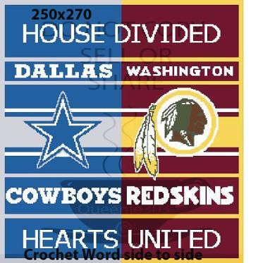 House Divided Cowboys Redskins 250x270