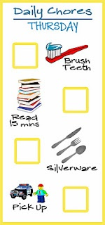Toddler chore chart... tons of printables