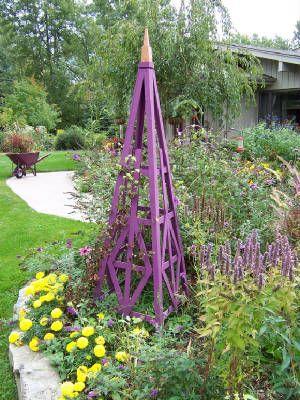 how to make a wooden obelisks for garden
