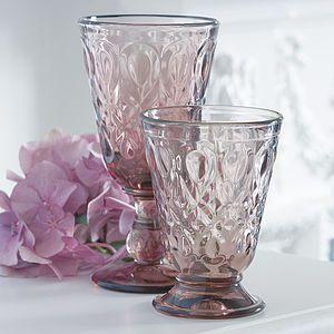 Luxury Peardrop Amethyst Glassware