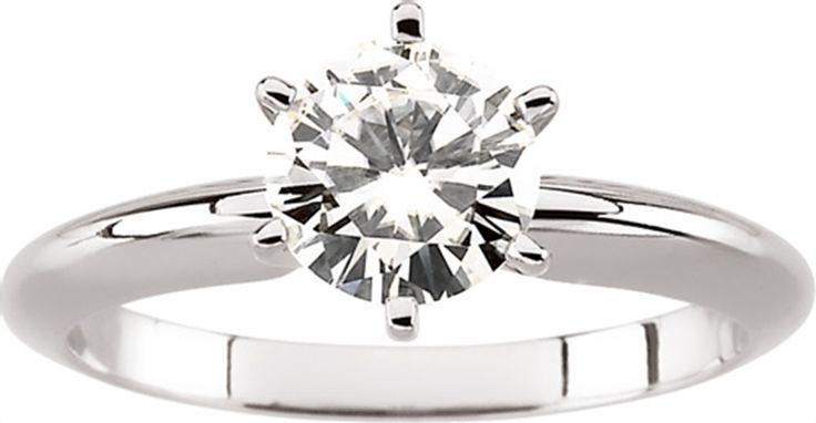 Moissanite Solitaire Engagement Ring - Matthew Erickson Jewelers