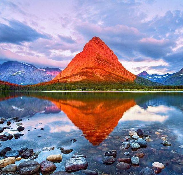 Grinnell Point Glacier, Montana: Reflection, Favorite Places, Nature, Montana, Glacier National Parks, Beautiful, Photo