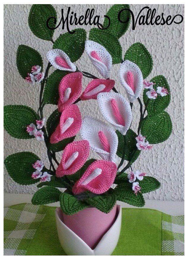 как сделать цветы вязанные крючком мастер класс лавка идей