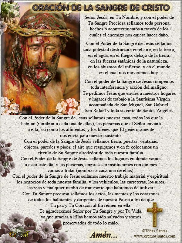 Vidas Santas: Oración a la Sangre de Cristo